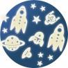 MISSIONE SPAZIALE 62 pezzi SET STELLE GLOW fosforescenti STARS adesive SI ILLUMINANO AL BUIO età 3+ Djeco - 2