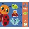 PRIMO PUZZLE 3 animali IN GIARDINO gioco di incastri DJECO 3 4 5 pezzi DJ07141 età 2+ Djeco - 1
