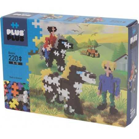 MINI BASIC costruzioni PLUS PLUS 220 pezzi PLUSPLUS gioco modulare HORSES età 5+ Plusplus - 1