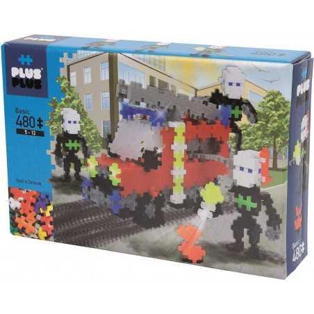 MINI BASIC costruzioni PLUS PLUS 480 pezzi PLUSPLUS gioco modulare FIRE TRUCK età 5+ Plusplus - 1