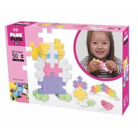 BIG PASTEL costruzioni PLUS PLUS 50 pezzi PLUSPLUS gioco modulare MIX età 1+ Plusplus - 1