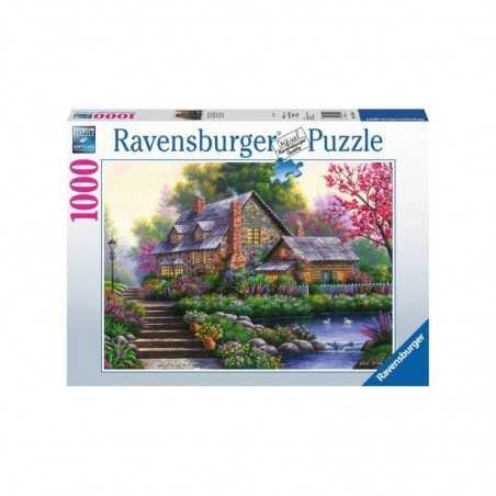 PUZZLE 1000 PEZZI ravensburger COTTAGE ROMANTICO 70 x 50 cm CASA DI CAMPO Ravensburger - 1
