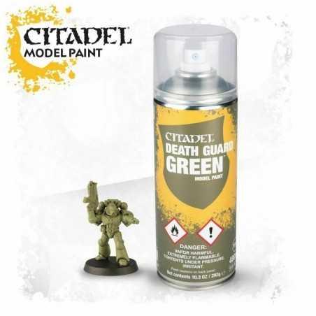 DEATH GUARD GREEN colore SPRAY citadel MODEL PAINT bomboletta 400 ML base VERDE Games Workshop - 1