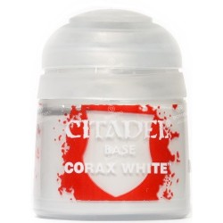 CORAX WHITE colore BASE citadel 12ML acrilico BIANCO opaco Games Workshop - 1