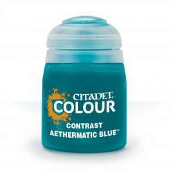 AETHERMATIC BLUE colore CONTRAST citadel BLU base ombreggiatura lumeggiatura 18ML Games Workshop - 1