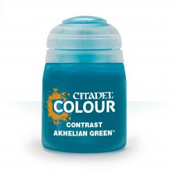 AKHELIAN GREEN colore CONTRAST citadel VERDE ACQUA base ombreggiatura lumeggiatura 18ML Games Workshop - 1