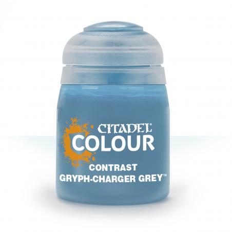 GRYPH-CHARGER GREY colore CONTRAST citadel AZZURRO base ombreggiatura lumeggiatura 18ML Games Workshop - 1