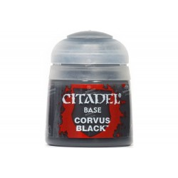 CORVUS BLACK colore BASE citadel 12ML acrilico NERO opaco Games Workshop - 1