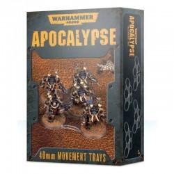 8 X 40MM MOVEMENT TRAYS warhammer 40k BASETTE DI MOVIMENTO citadel GAMES WORKSHOP trasparenti APOCALYPSE Games Workshop - 1