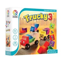 TRUCKY 3 nuova edizione 2019 camion SMART GAMES preschool puzzle game 48 SFIDE età 3+ Smart Games - 1