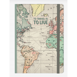 NOTEBOOK LARGE TRAVEL Legami taccuino da viaggio cm 24x17 a righe Legami - 1