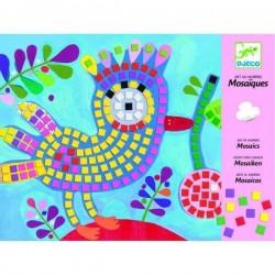 Papier-Mosaiken und Vögel...