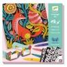COLORARE IN 3D kit artistico BOSCO FANTASY creativo DJECO 4 tavole DJ08652 età 7+ Djeco - 1
