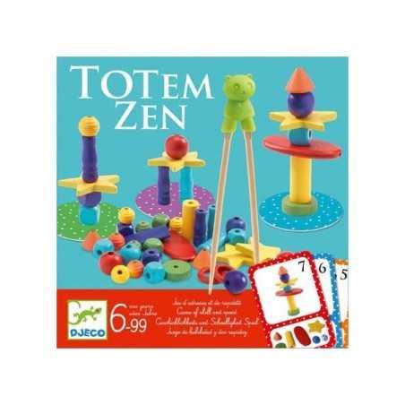 TOTEM ZEN gioco di abilità e rapidità IN LEGNO con bacchette DJECO perline DJ08454 età 6+ Djeco - 1
