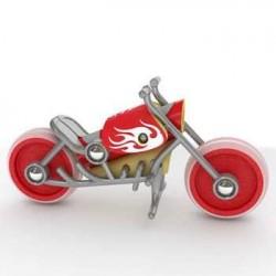 Und Holz-CHOPPER Motorrad...