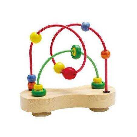 DOPPIO TRACCIATO - labirinto spirale metallo legno età 6m+ Hape Double Bobble Hape - 1