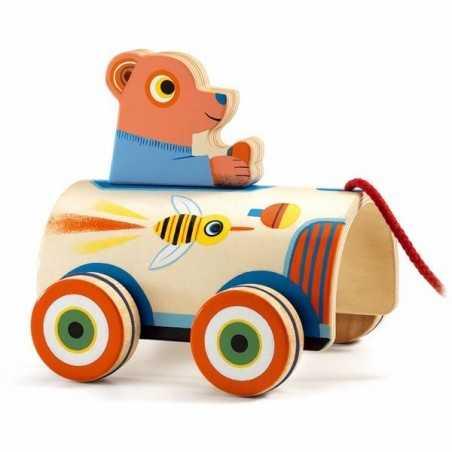 ROLI MAX animali da trainare GIOCO IN LEGNO da tirare DJ06244 macchina DJECO età 18 mesi + Djeco - 1