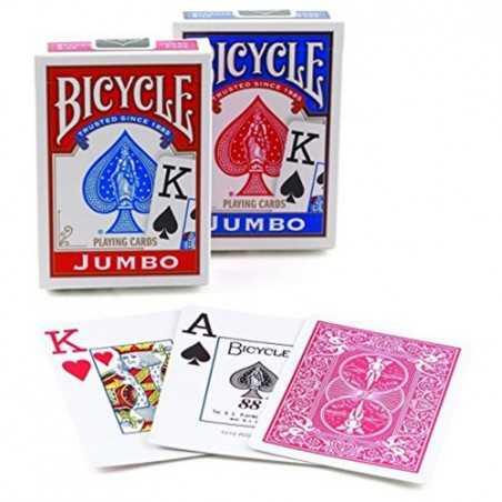BICYCLE 2 mazzi DA GIOCO playing cards JUMBO face CLASSICO ramino 52 + 52 CARTE standard size Raven Distribution - 1