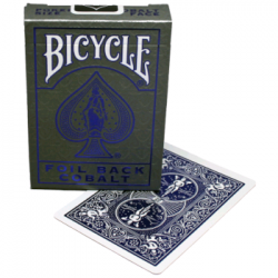 FOIL BACK COBALT metalluxe BICYCLE mazzo DA GIOCO playing cards CLASSICO made in us 52 CARTE air cushion finish Raven Distributi