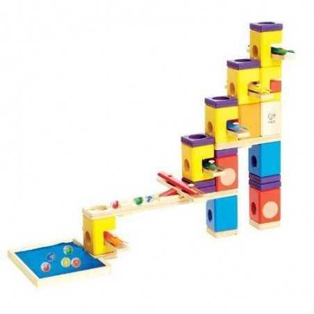 QUADRILLA MUSIC MOTION gioco piste in legno x biglie età 4+ Melody Hape - 5