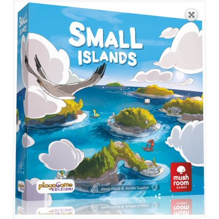 SMALL ISLANDS gioco da tavolo PIAZZAMENTO TESSERE in italiano NAVI E ISOLE età 8+ Asmodee - 1