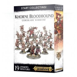 START COLLECTING 19 miniature KHORNE BLOODBOUND goreblade warband AGE OF SIGMAR warhammer 12+ Games Workshop - 1