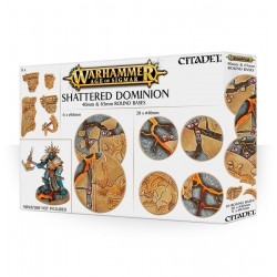 SHATTERED DOMINION round bases 40 e 65 mm BASETTE CIRCOLARI CitadelWARHAMMER Age of Sigmar 12+ Games Workshop - 1