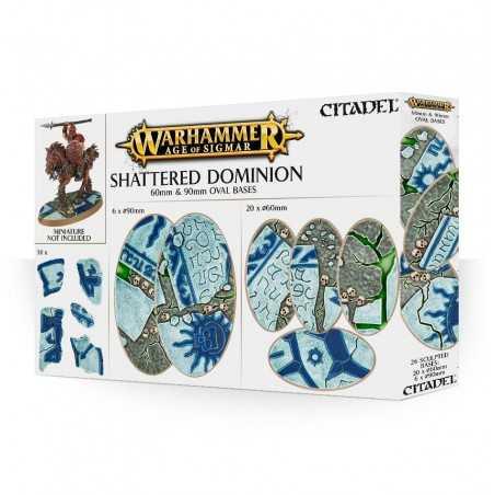 SHATTERED DOMINION oval bases 60 e 90 mm BASETTE OVALI CitadelWARHAMMER Age of Sigmar 12+ Games Workshop - 1