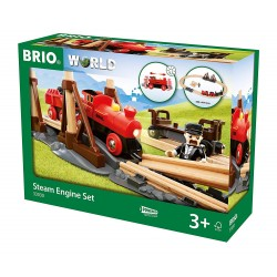 SET TRENO A VAPORE steam engine set BRIO WORLD in legno e plastica 33030 trenino LOCOMOTIVA età 3+ BRIO - 1