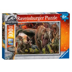 PUZZLE ravensburger ERUZIONE perfect age fit PEZZI 100 XXL jurassic world 49 X 36 CM età 6+ Ravensburger - 1