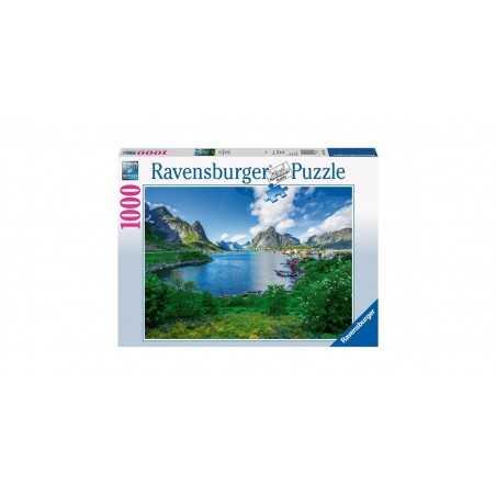 PUZZLE ravensburger SGUARDO SULLE LOFOTEN NORVEGIA soft click 1000 PEZZI orizzontale 70 X 50 CM Ravensburger - 1