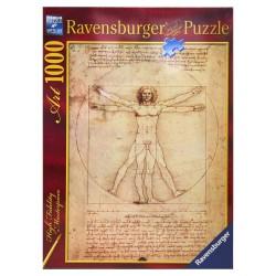 PUZZLE ART ravensburger LEONARDO DA VINCI UOMO VITRUVIANO soft click 1000 PEZZI verticale 50 X 70 CM Ravensburger - 1