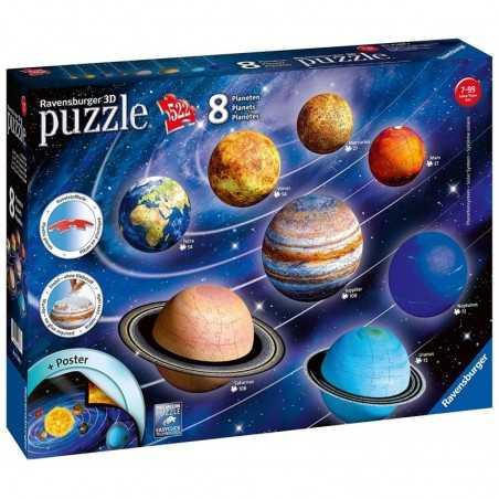 PUZZLE 3D DA 522 PEZZI ravensburger SISTEMA SOLARE 8 pianeti + POSTER planetario 7+ Ravensburger - 1