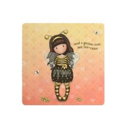 NOTEBOOK CON FOGLI STACCABILI giallo BEE LOVED santoro GORJUSS just bee cause 825GJ01 Gorjuss - 1