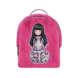 ZAINO H2 effetto peluche TALL TAILS rosa GORJUSS backpack 978GJ02 con zip SANTORO Gorjuss - 1