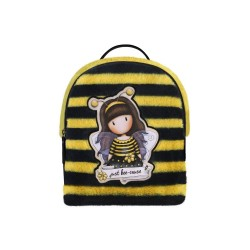 ZAINETTO H2 effetto peluche BEE LOVED giallo e nero GORJUSS mini backpack 979GJ01 con zip SANTORO Gorjuss - 1