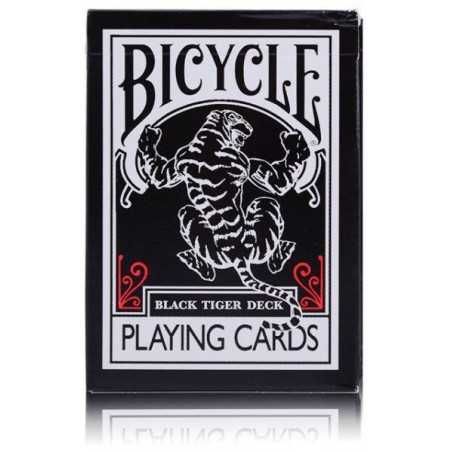 BLACK TIGER DECK tigre BICYCLE mazzo DA GIOCO playing cards 52 CARTE performance coating POKER SIZE made in usa BICYCLE - 1