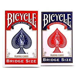 2 MAZZI da gioco STANDARD FACE playing cards BICYCLE air cushion finish BRIDGE SIZE made in usa BICYCLE - 1