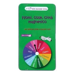 NOMI COSE CITTA' MAGNETICO gioco da viaggio PORTATILE in italiano THE PURPLE COW età 6+ The Purple Cow - 1