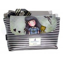 POCHETTE con bottone e zip EXCLUSIVE COLLECTION trousse GORJUSS santoro GRIGIA london EV573000 Gorjuss - 1