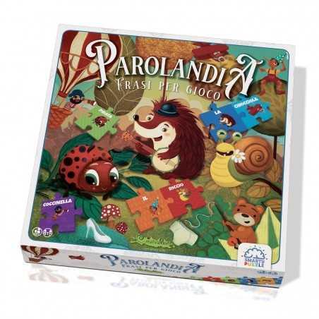 PAROLANDIA frasi per gioco SMARTY PUZZLE gioco educativo CREATIVAMENTE parole PARTY GAME età 7+ Creativamente - 1