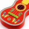 CHITARRA ANIMAMBO 4 note IN LEGNO gialla e rossa DJECO con plettro e corde DJ06013 età 3+ Djeco - 3