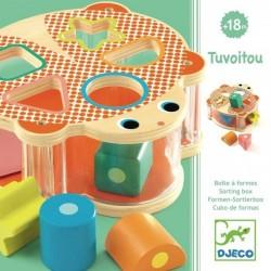 TUVOITOU gioco in legno INCASTRA LE FORME rscatola DJECO formine DJ06413 età 18 mesi + Djeco - 1