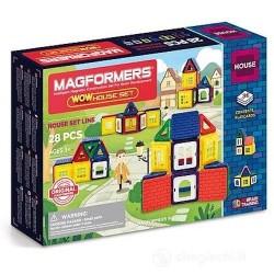 MAGFORMERS wow house set 28 PEZZI playcards COSTRUZIONI magnetiche 3D età 3+ MAGFORMERS - 1