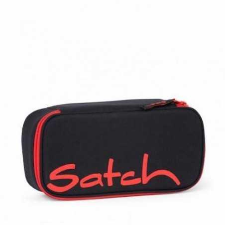 ASTUCCIO satch FIRE PHANTOM attrezzato BOX pencil box con squadra omaggio NERO E ROSSO Satch - 1