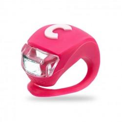 LUCE monopattino ROSA silicone flessibile LED di sicurezza MICRO resistente all'acqua DELUXE light Micro - 1