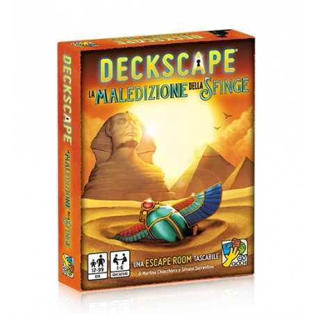 DECKSCAPE LA MALEDIZIONE DELLA SFINGE escape room di carte in italiano DV Giochi daVinci Games - 1