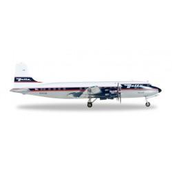 DELTA DOUGLAS DC-6 HERPA WINGS 557382 modellino scala 1:200 Herpa - 1