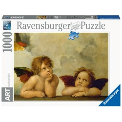PUZZLE ravensburger PUTTI 1000 pezzi RAFFAELLO art collection 50 X 70 CM originale SOFTCLICK cherubini Ravensburger - 1