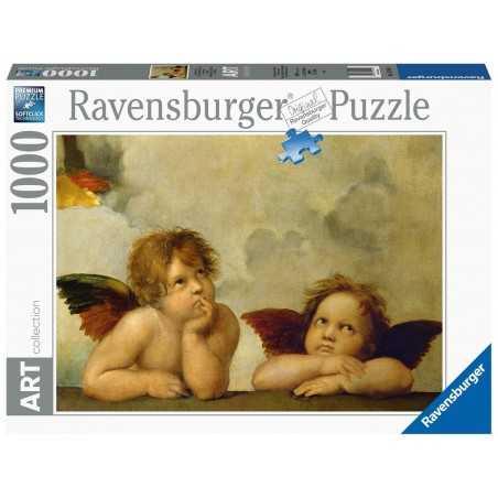 PUZZLE ravensburger PUTTI 1000 pezzi RAFFAELLO art collection 50 X 70 CM originale SOFTCLICK cherubini Ravensburger - 1